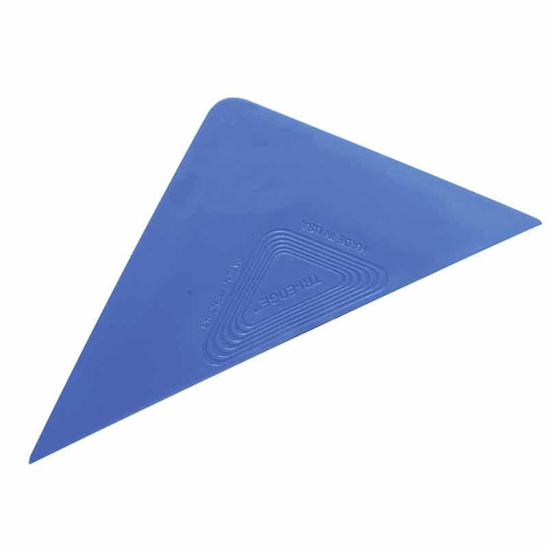 kleiner dreieckiger Rakel Tri Edge Blau Soft flexibel folienrakel