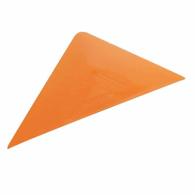 Rakel Tri Edge Orange Hart Semi Flexibel dreieckiger squeegee