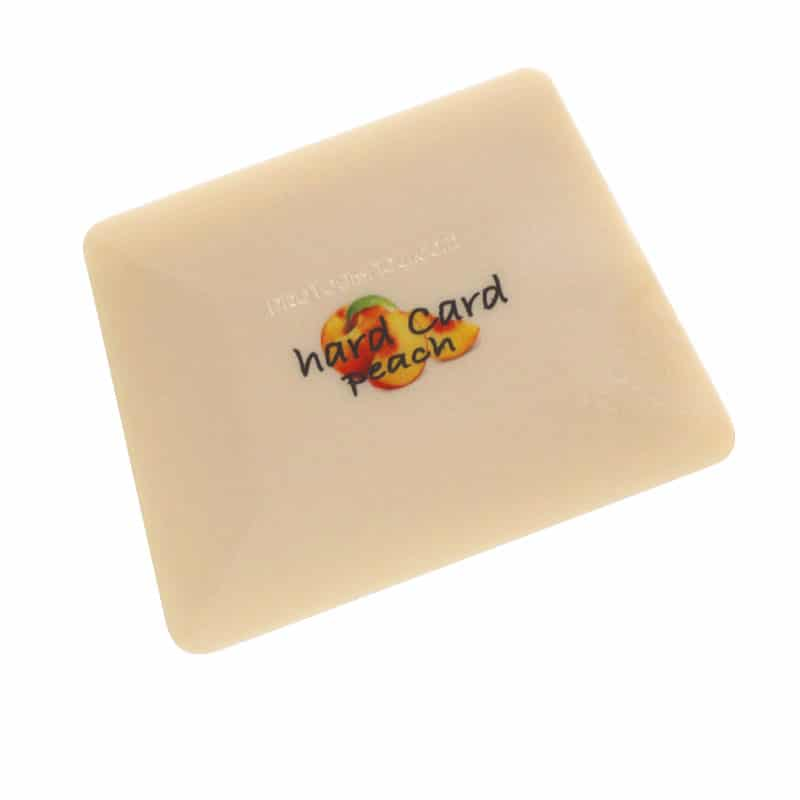 Hard Card Peach Spezialrakel Handpoliert