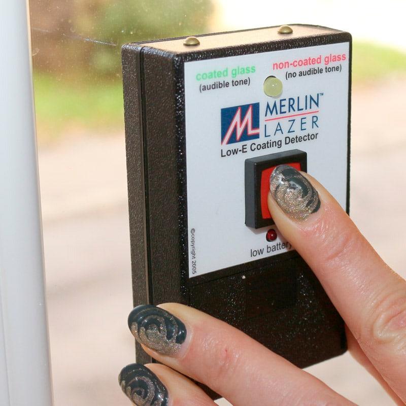 Merlin Lazer Low-E Coating Detektor bei Einfachverglasung